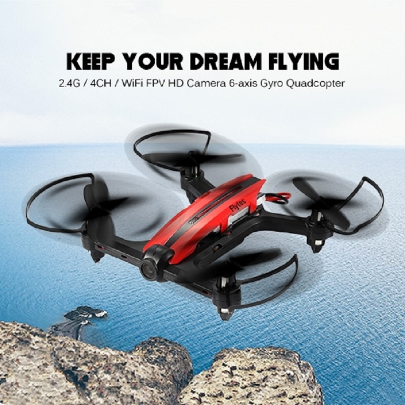 Flytec T18D Mini Racing Drone 720P HD Camera Wifi FPV 4CH Height Hold Air Press Attitude Colorful LED Light RC 6 Axis Quadcopter flytec t18d rc quadcopter mini drone 4ch wifi fpv 720p hd camera rc drones height hold mode 6 axis ufo rtf drone with camera