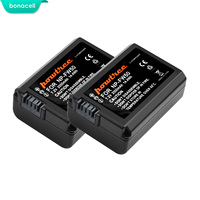 Bonacell 2000 мА/ч, NP-FW50 NP FW50 Батарея AKKU для sony NEX-7 NEX-5N NEX-5R NEX-F3 NEX-3D Alpha a5000 a6000 DSC-RX10 Alpha 7 a7II