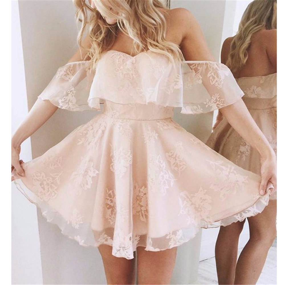 Princess Light Pink Lace Wedding Dress With Off The: Women Princess Pettiskirt Pink Black Off Shoulder Lace
