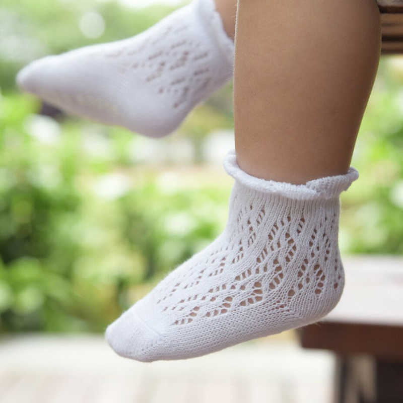 2019 Toddler Baby Girls Mesh Lace Socks Kids Toddler Solid Color Cotton Princess Ankle Long Sock Cute Casual Lovely Gift Fashion