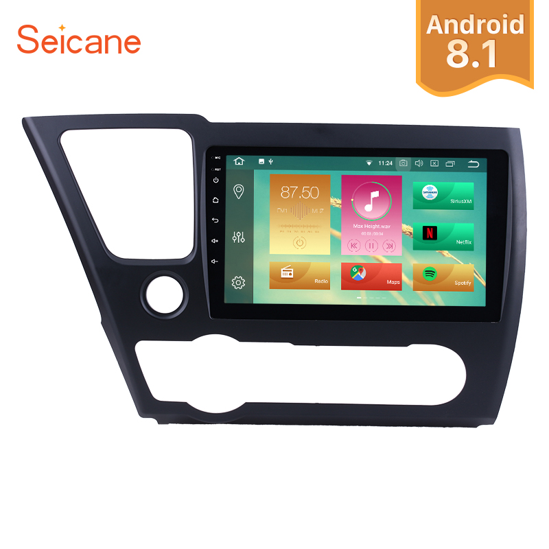 Seicane Android 8.1/8.0 Car Radio For 2014 2015 2016 2017 Honda Civic HD Touchscreen 9 Car Stereo GPS Navi Multimedia Player