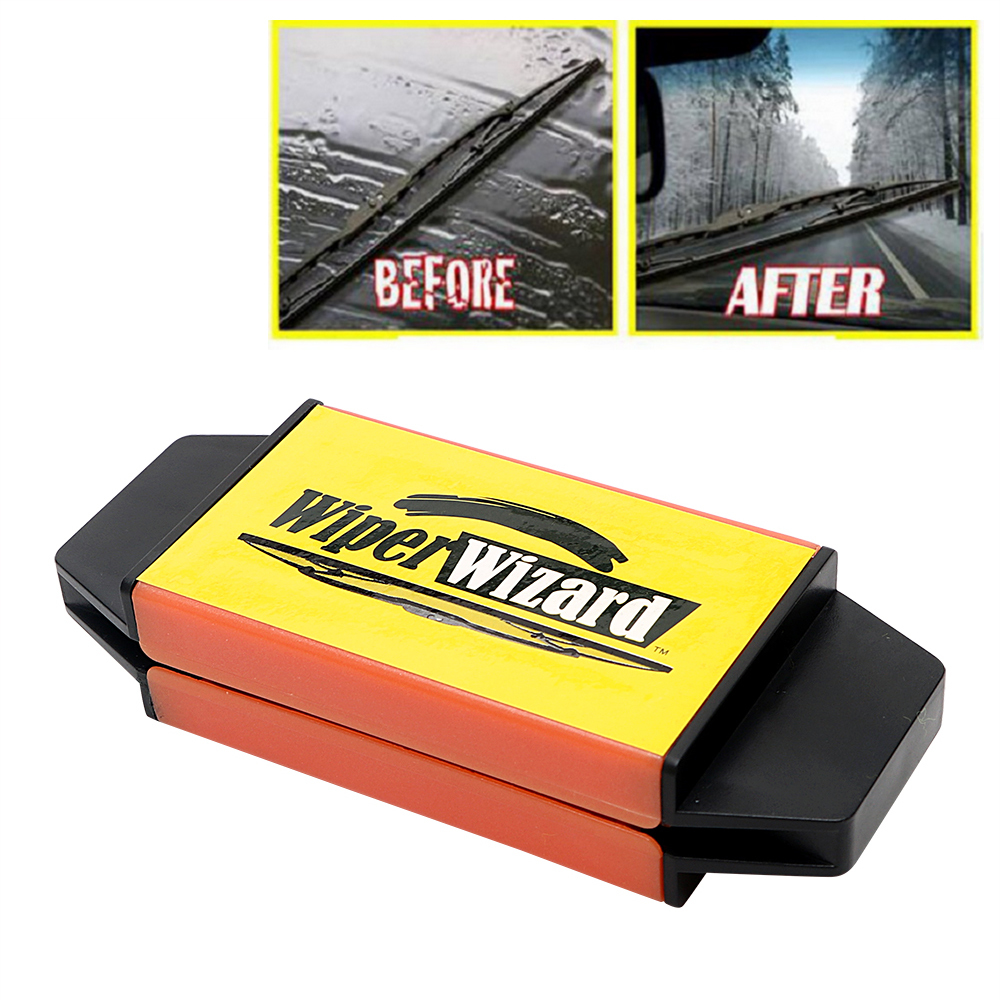 Car Wiper Cutter Windshield Wiper Wizard Blade Restorer With 5pcs Wizard Wipes Cleaning Brush Van Windscreen Cleaner Car-Styling