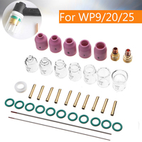38pcs Practical TIG Welding Torch Stubby Gas Lens #4 12 Glass Cup Kit Durable Welding Accessories For WP9/20/25