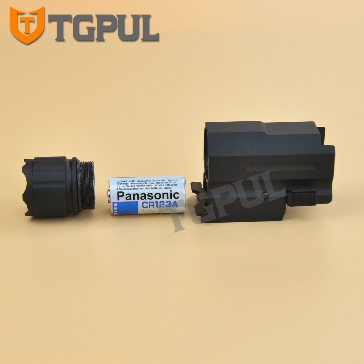 Tactical CREE LED Flashlight w//Strobe For Pistol Glock QD Mount Weaver Rail