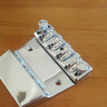 Chrome  4 String Vintage Electric Bass Bridge