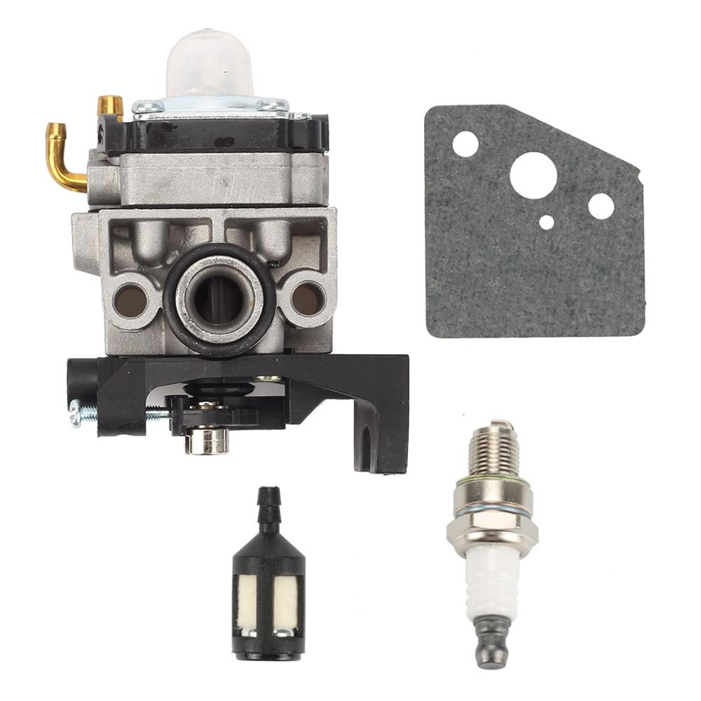 Carburetor Fuel Filter Spark Plug Kit For Honda GX25 GX35 HHT35 HHT35S 16100-Z0Z-034 K10-WYJ Gasoline Engine Trimmer Brushcutter