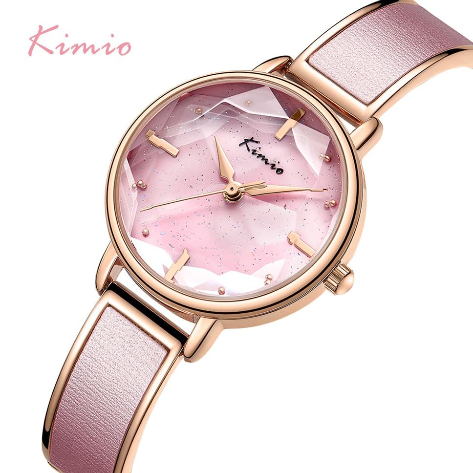 Kimio 브랜드 팔찌 시계 여성 고급 숙녀 쿼츠 시계 여성 캐주얼 방수 시계 시계 빅 다이얼 2019 봄 새로운-에서여성용 시계부터 시계 의  그룹 1