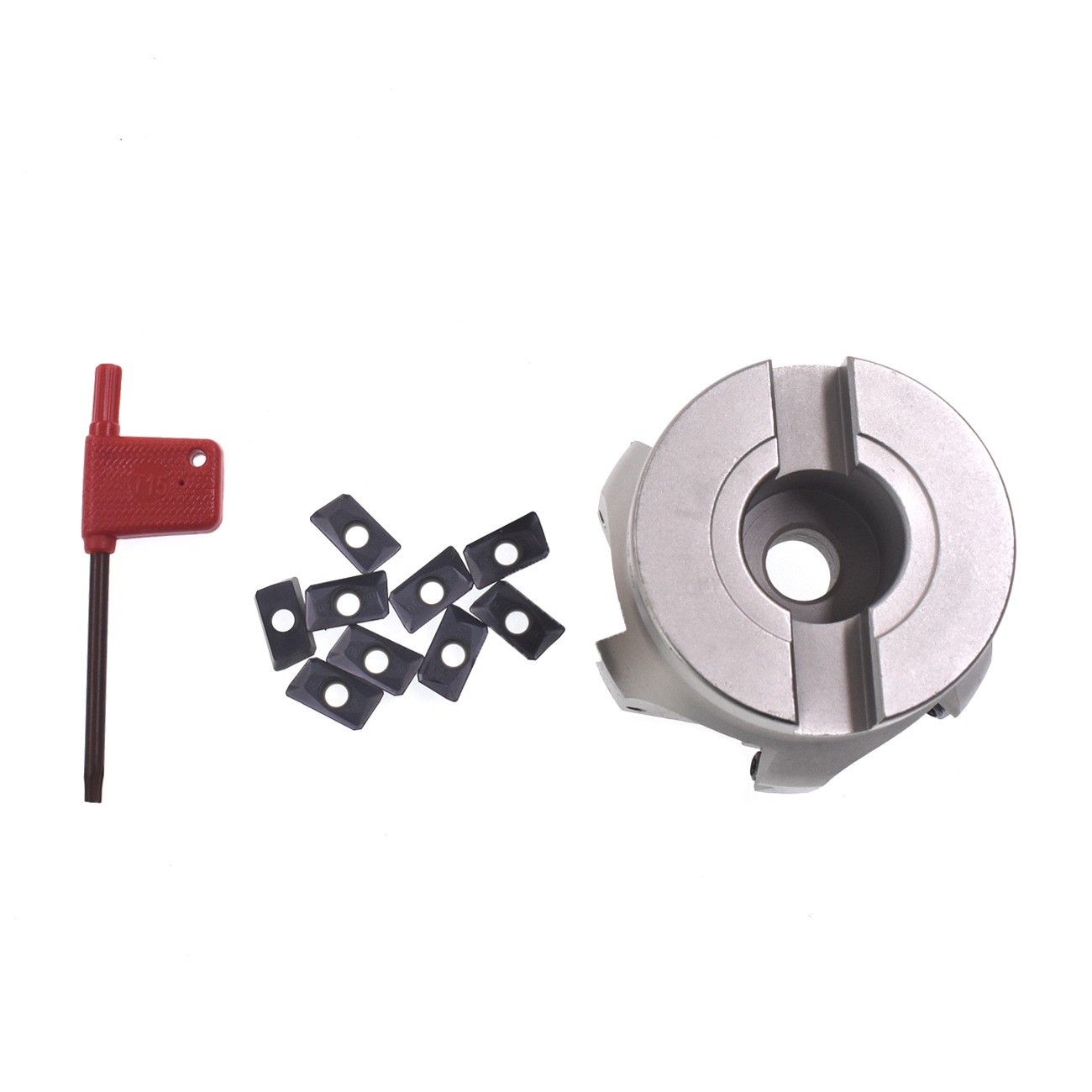 10 APMT1604PDER Insert + 400R-80-27-6F 6Flute BAP Indexable Face End Mill Cutter