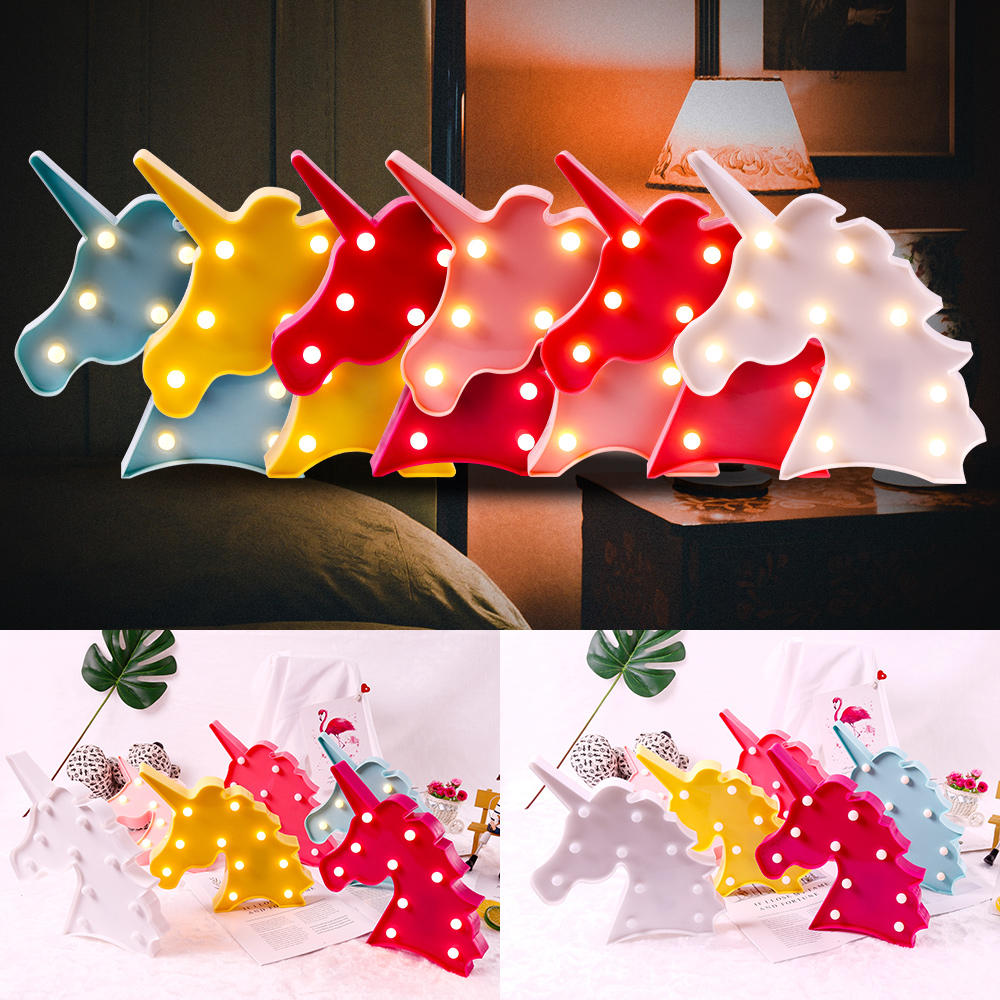 3D Unicorn LED Night light Home Decor Light Fashion Romantic Lamp Table D25