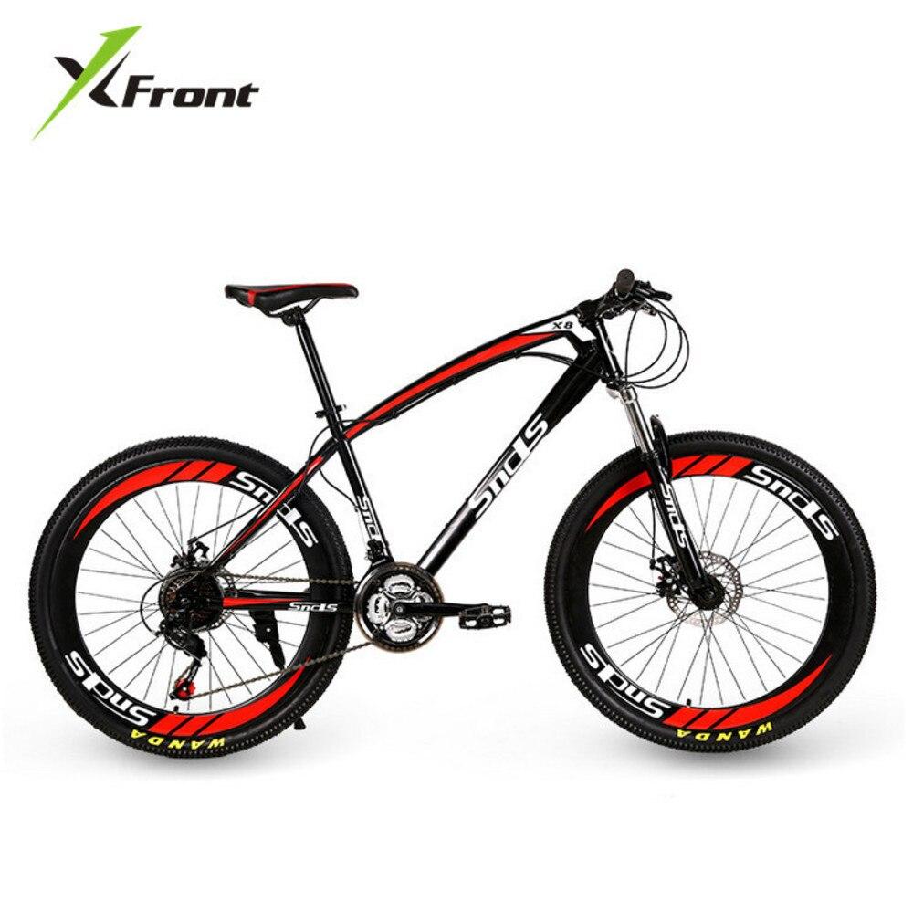 Original x-front marque motoneige 21 vitesses 26 pouces pneu frein à disque vtt VTT tout-terrain réduction vélo de plage