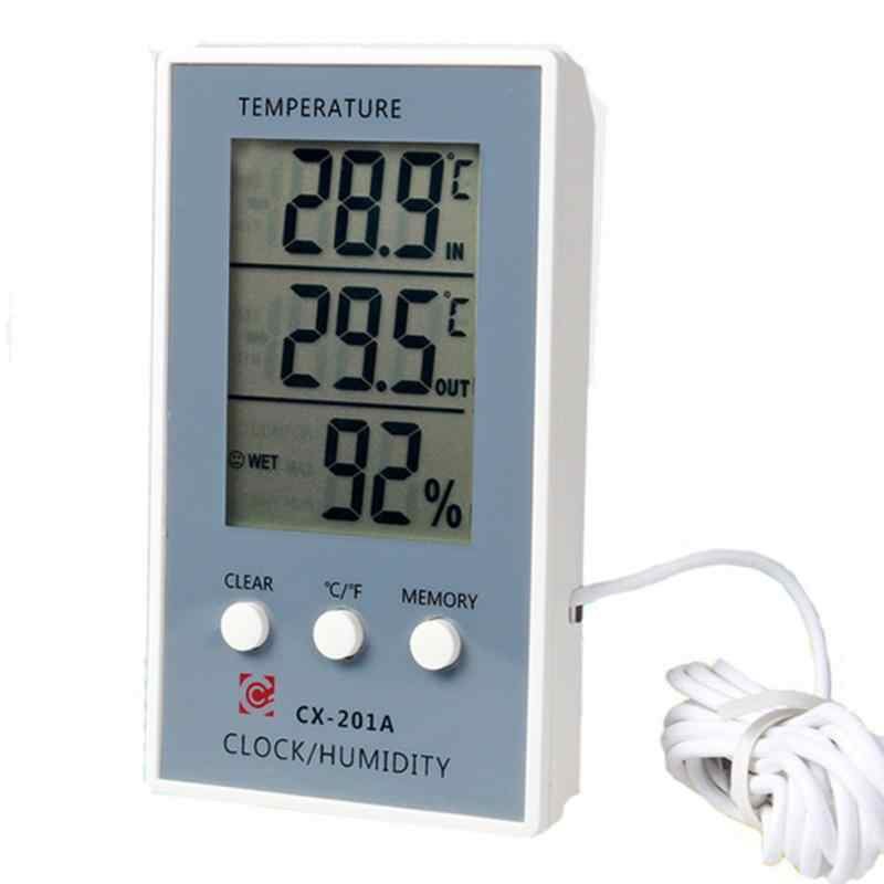 Mini Aquarium Fish Tank Thermometer Indoor Outdoor Electric Hygrothermograph Fish Tank Screen Display Thermometer