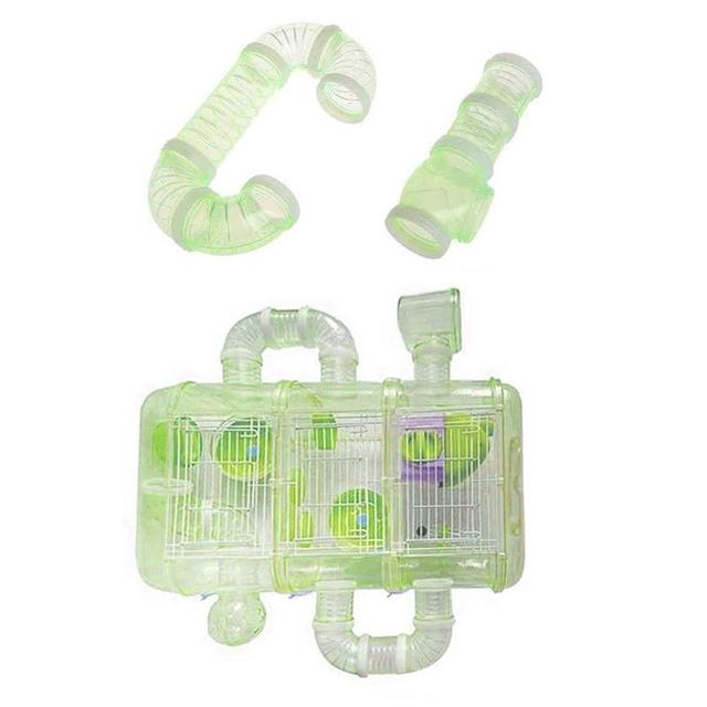 DIY U-type Plastic Pipe Line Tube Training Playing Connected External Tunnel Toys for Small Animal Hamster Cage Product Supplies 2