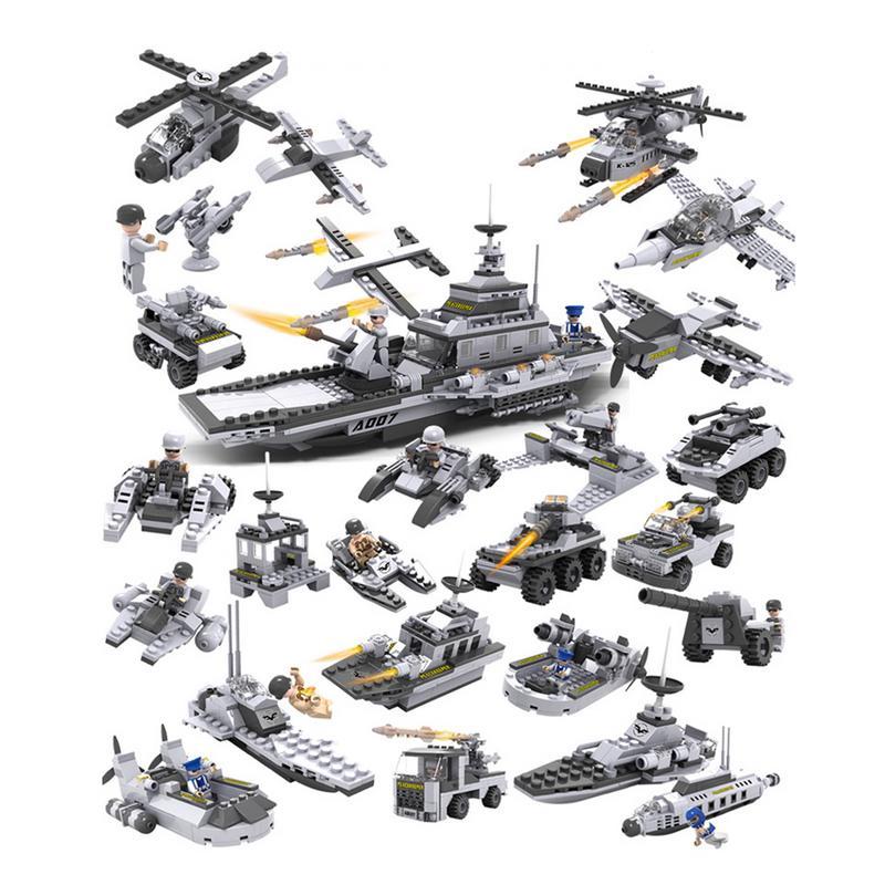 2019 Neuestes Design Kunststoff Gebäude Block Flugzeug Modell 8 In 1 Montage Kombination Set Frühe Bildung Spielzeug Für Kinder Kinder Jungen