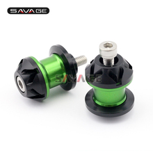 For Kawasaki Z800 Z1000 Z1000sx Zx6r Zx10r Ninja/ Kle1000 Versys Motorcycle Cnc Aluminum Swingarm Spools Slider Stand Screws 8mm цена