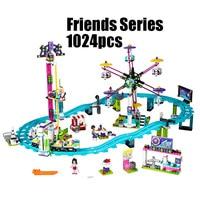 1024 pcs Model building kits compatible with lego city girls friend Amusement Park 3D blocks Educational model building toys