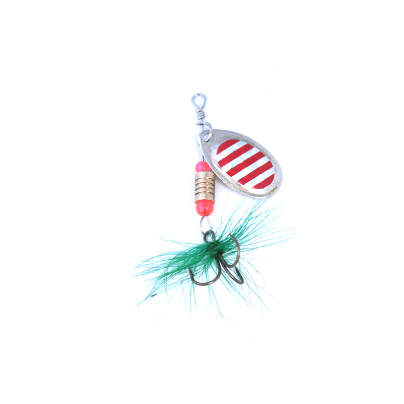 OLOEY Fishing Lure Rotating Metal Spinner Spoon Fishing Lure Hard Baits For Trout Pike Pesca Peche Treble Hook Tackle