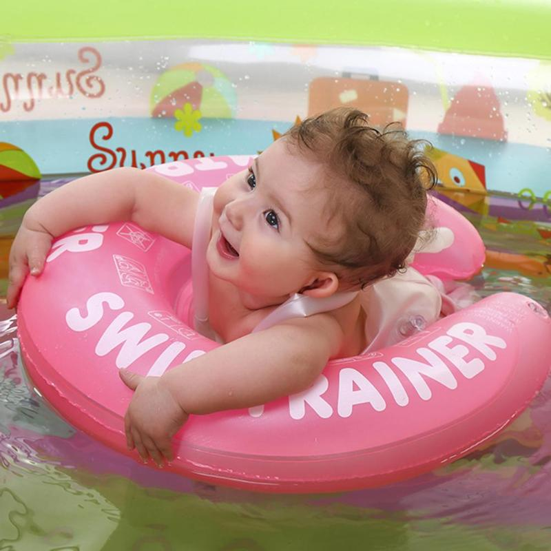 Baby Inflatable Swimming Ring Infant Armpit Float Kid Swim Pool Circle Bathing Double Raft Tumbler Accessory Multiple Protection