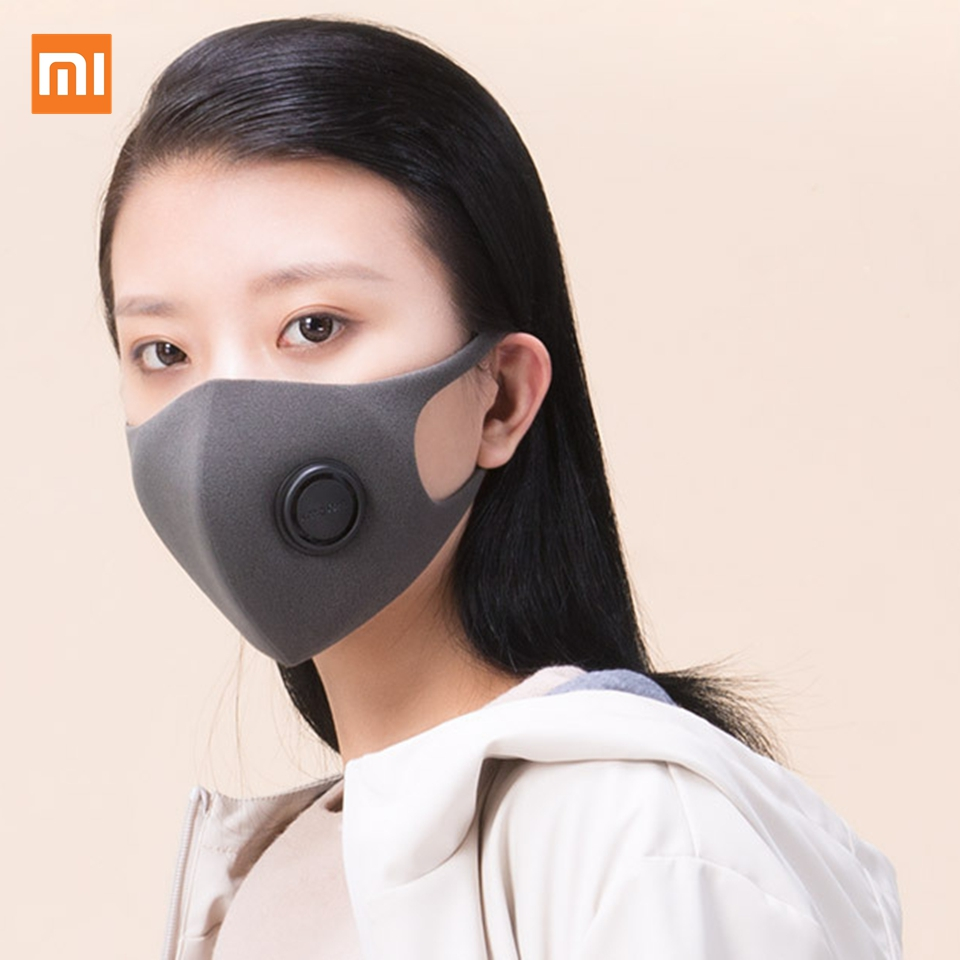 Xiaomi Mijia Smartmi Filter Mask Block 97% PM 2.5 With Ventilating Valve Long-lasting TPU Material Filter Mask Smart Home 1 Pcs