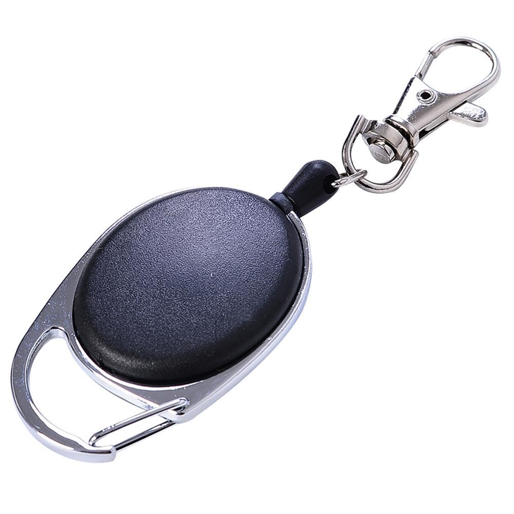 New Extensible Nylon Rope Back Clip Men Anti-Lost Keychain Organizer Key Ring Decor