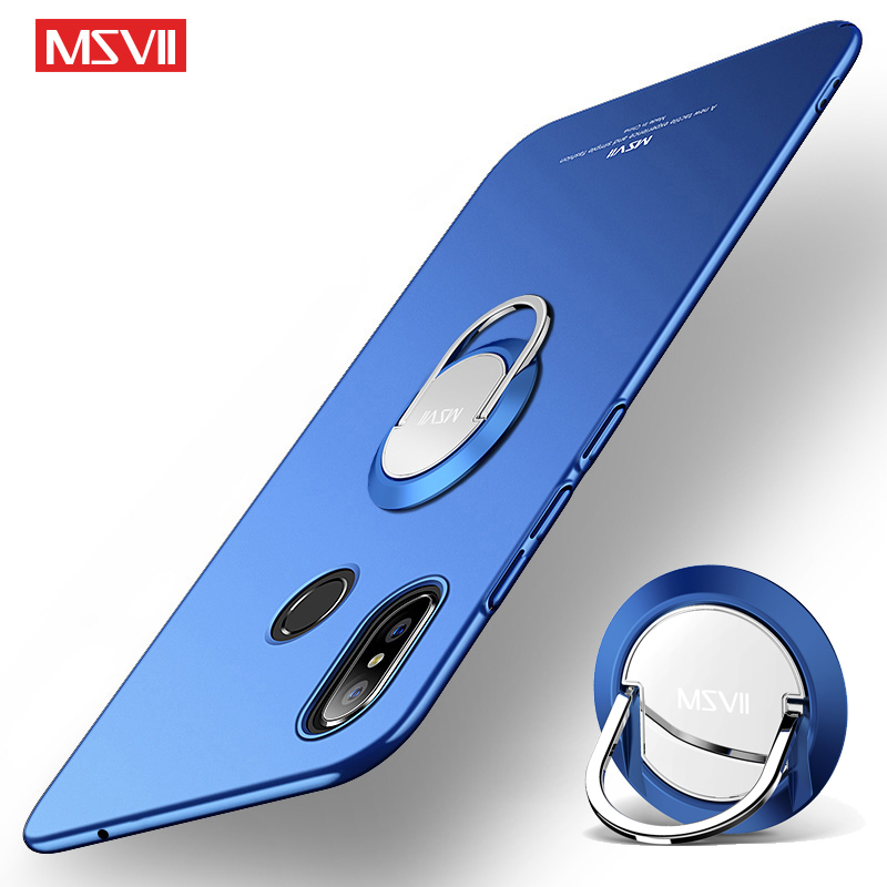 Xiaomi Mi Mix 3 Case MSVII Finger Ring Frosted Case Xiami Xiomi Mix 2 Metal Car Magnetic Holder Cover Xiaomi Mix 2S Phone Cases