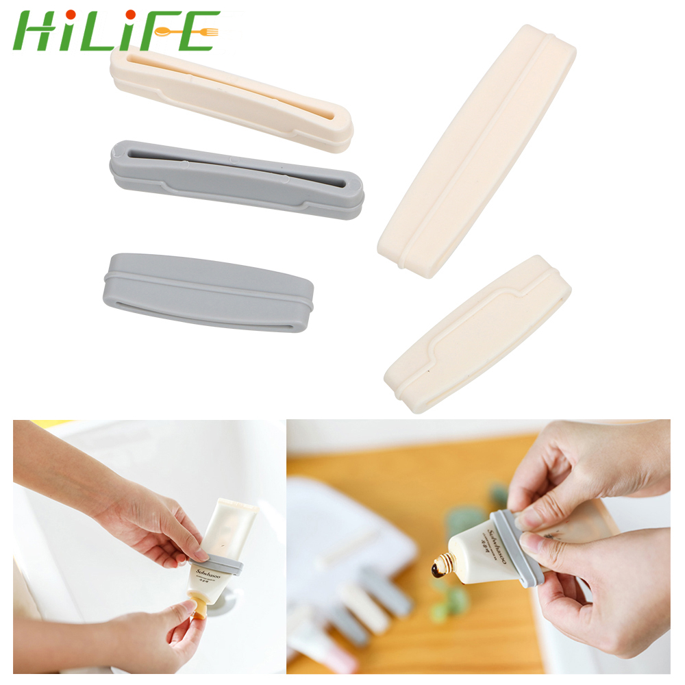 HILIFE Easy Cream Tube Squeezer Extruding Toothpaste Clip Bathroom Products Manual 3pcs/set Toothpaste Squeezer Dispenser
