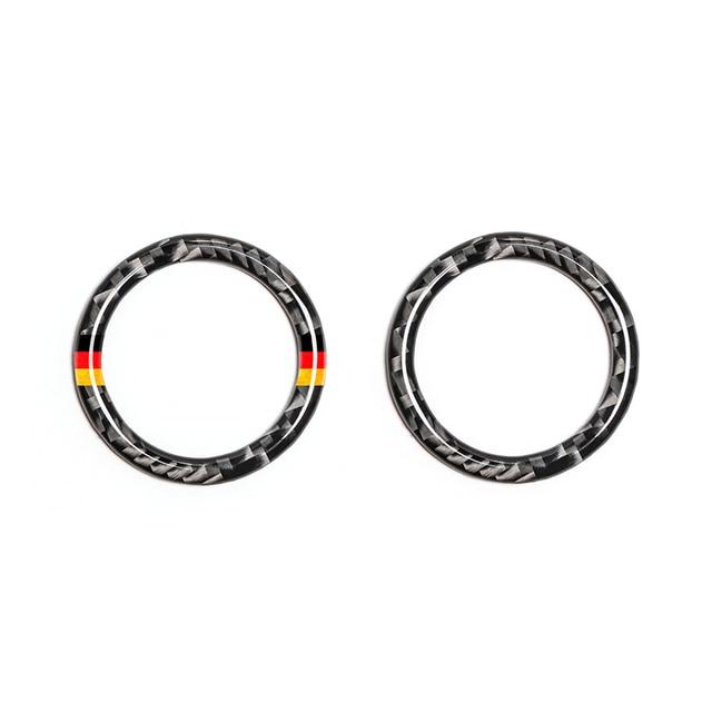 Dla Mercedes Benz C E klasa W205 W213 C180 C200 C300 GLC z włókna węglowego przycisk uruchamiający/wyłączający silnik samochodu przycisk pierścień kluczyka zapłonu pokrywa