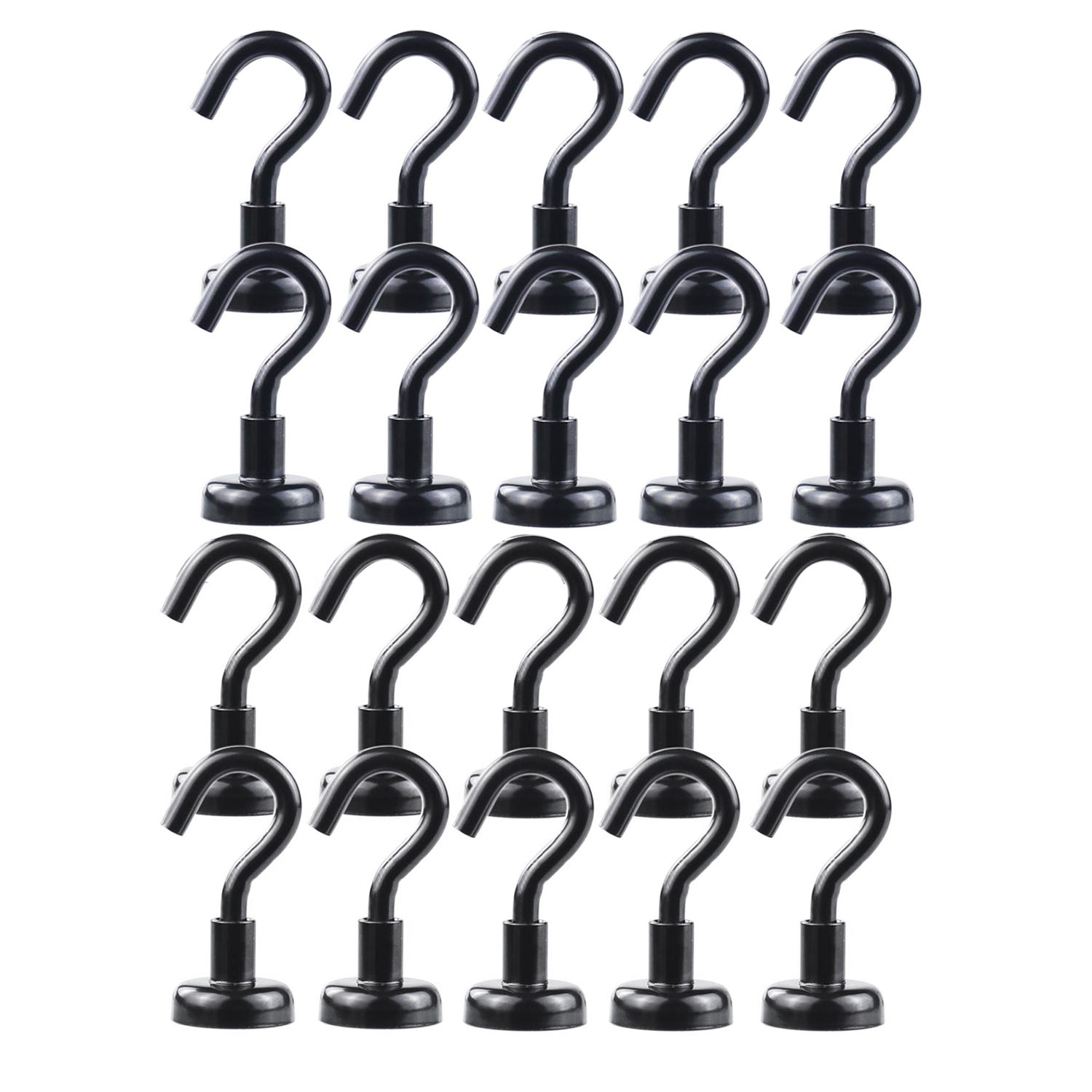 Heavy Duty Black Magnetic Hooks, Strong Neodymium Black Magnet Hook For Home, Kitchen, Workplace, Office And Garage, Hold Up T