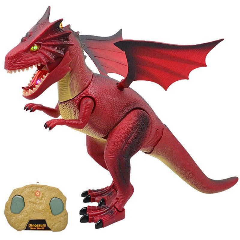 Télécommande Électronique Dinosaure Modèle Jouets Infrarouge RC Dinosaure Dragon de Feu Modèle Sound Light Jouets Éducatifs Jouets Cadeaux