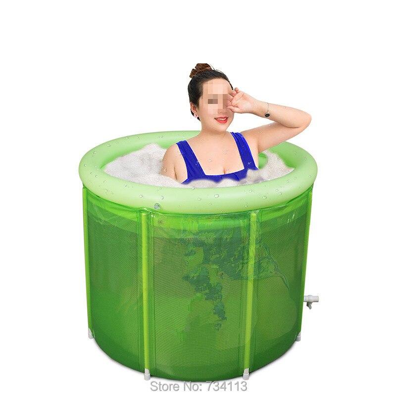 Grande taille baignoires adultes pliant grand bain gonflable 80*100 cm Double personne grand homme baignoire grande capacité nécessite beaucoup d'eau