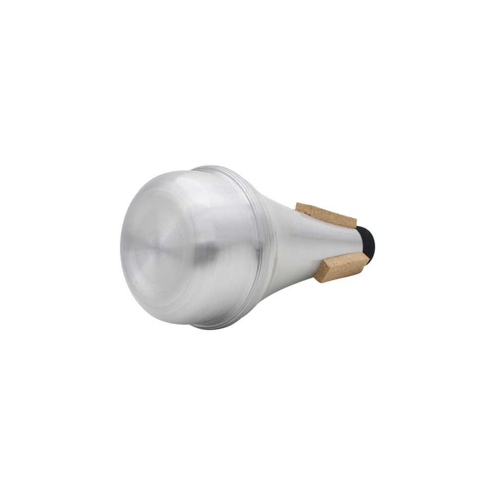 トランペットミュート高品質シルバーカラートランペットストレートミュート弱音器アルミ合金金管楽器アクセサリー