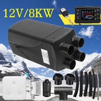 Автомобильный обогреватель 12 В 8 кВт, стояночный воздушный обогреватель, ЖК монитор, 4 отверстия с пультом дистанционного управления + глуши