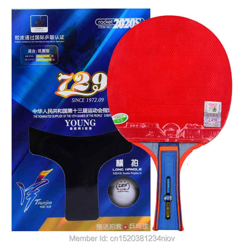 Original 729 finished racket yong 2020S table tennis racket loop high speed new style packing with one case one ball racquet