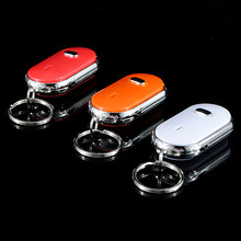 Whistle LED Light Torch Remote Sound Control Lost Key Finder Locator Self Defenses Remote Keychain Keyring With Whistle Claps(China)