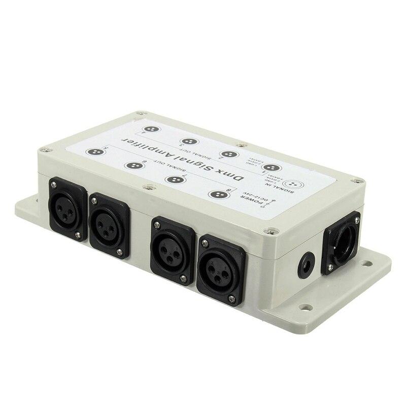 Intelligente Dc12-24v 8 Canaux Sortie Dmx Dmx512 Led De Contrôle Amplificateur De Signal Séparateur Distributeur Pour Les équipements à La Maison