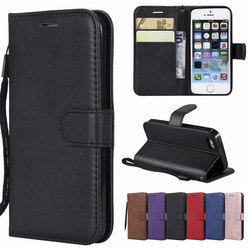Leather Case For iPhone 5s Case iPhone 5 Cover Flip Bookcase With Card Slots Luxury Phone Case For Coque iPhone 5s 5 s Cover 1