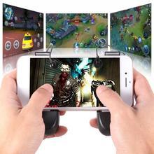 2pcs R8 2 in 1 Phone Gamepad L1R1 Shooter Fire Trigger Joystick for PUBG