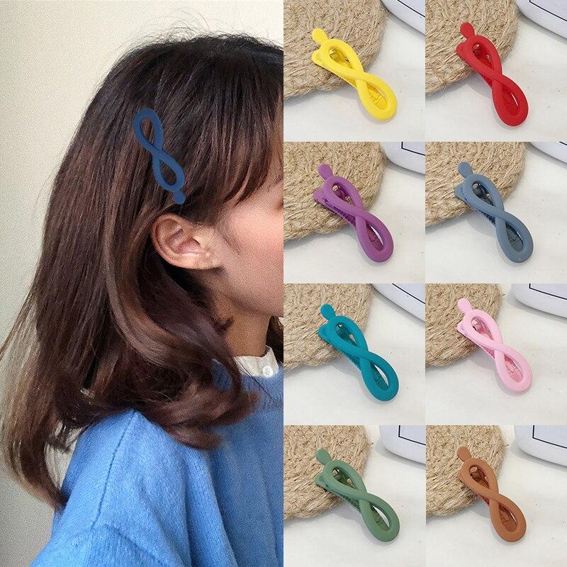Scrub Hot Sale Hair Clips Bang Clip Korean Unique 1PC   Headwear   Hair Accessories Hair Pins Unique Women Geometry Popular Girls