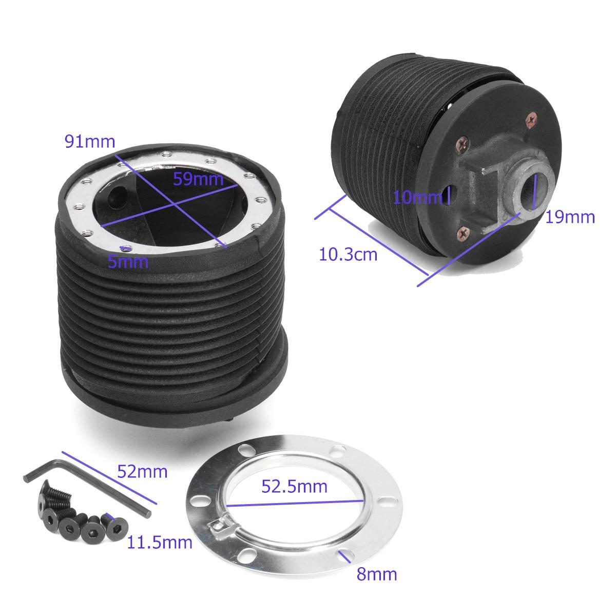 Auto Zwart Stuurwiel Hub Kit Quick Release Adapter Connector Voor Peugeot 206 Auto Stuurwiel Adapter Accessoires 1 pcs