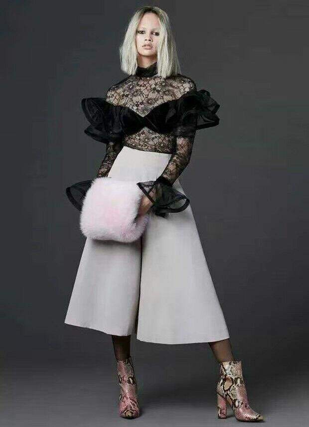 2019 Blouses de couverture en dentelle noire voir bien manches évasées Blouse en dentelle Top transparent femmes Sexy chemise blanche Blusas Mujer Streetwear