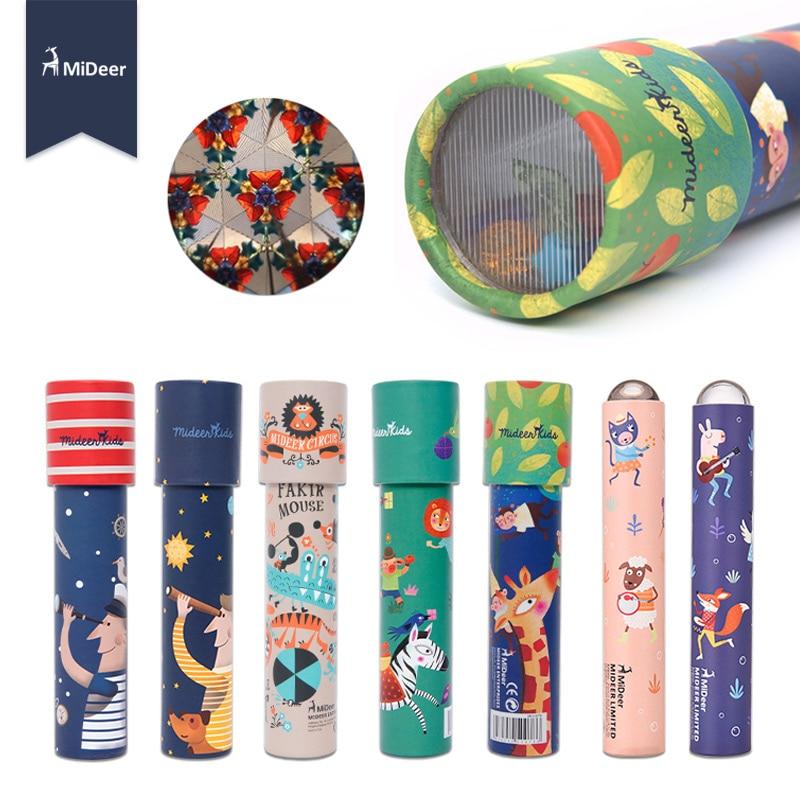 Mideer kaleidoscope Imaginative Cartoon Animals Colorful World Gifts for Kids Logical Magical STEM Educational Toys for Children скуби ду лего