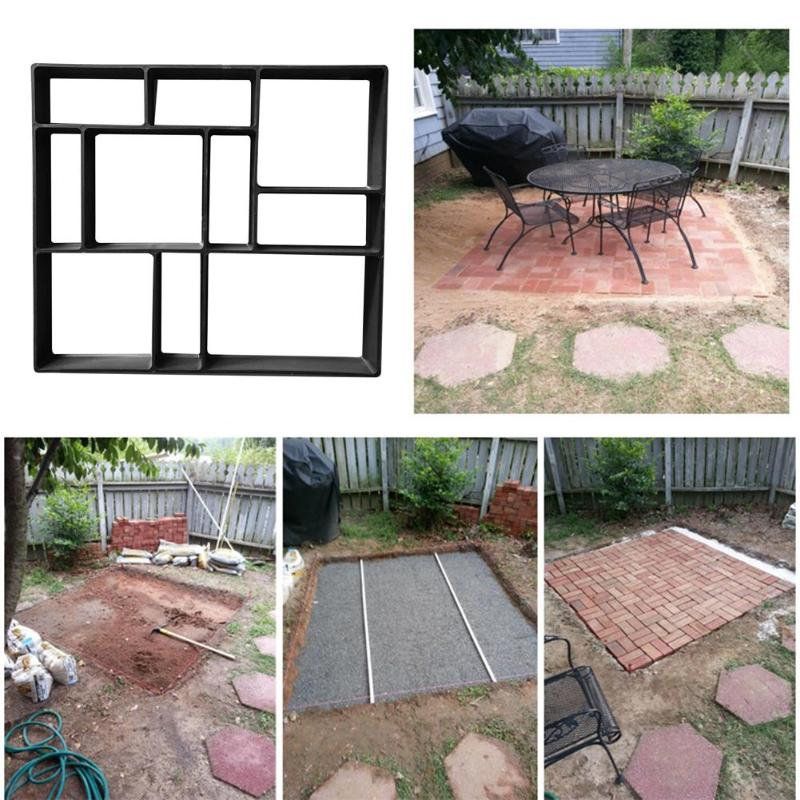 DIY Paving Cement Brick Stone Road Concrete Mould Garden Path Maker Mold Household Gardenging Road Mould Template Accessories