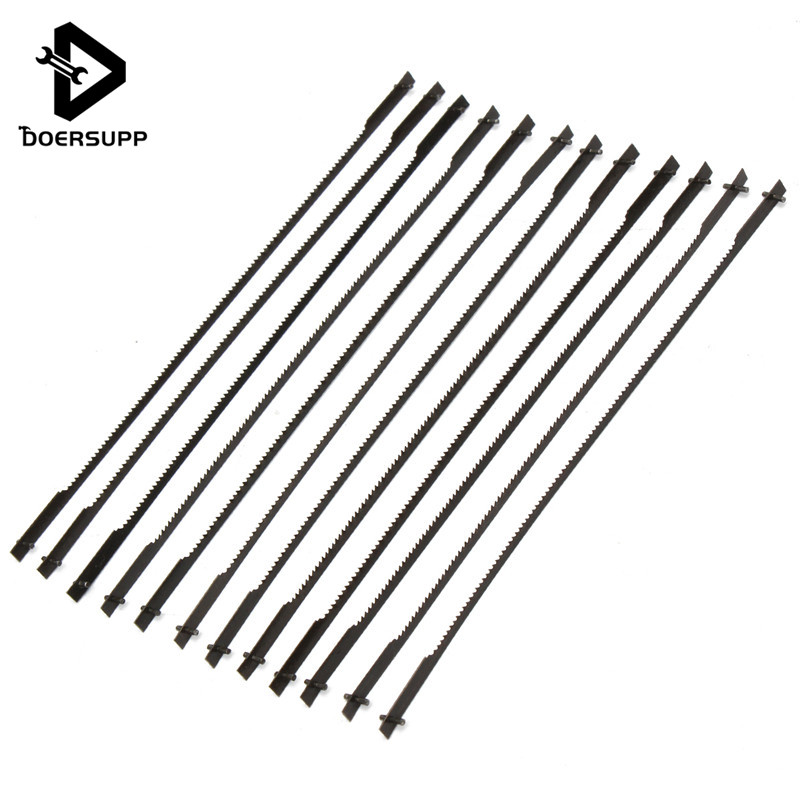 Teeth-Scroll Saw-Blade Cutting Woodworking Power-Tool-Accessories Black 127mm For 12pcs/Set