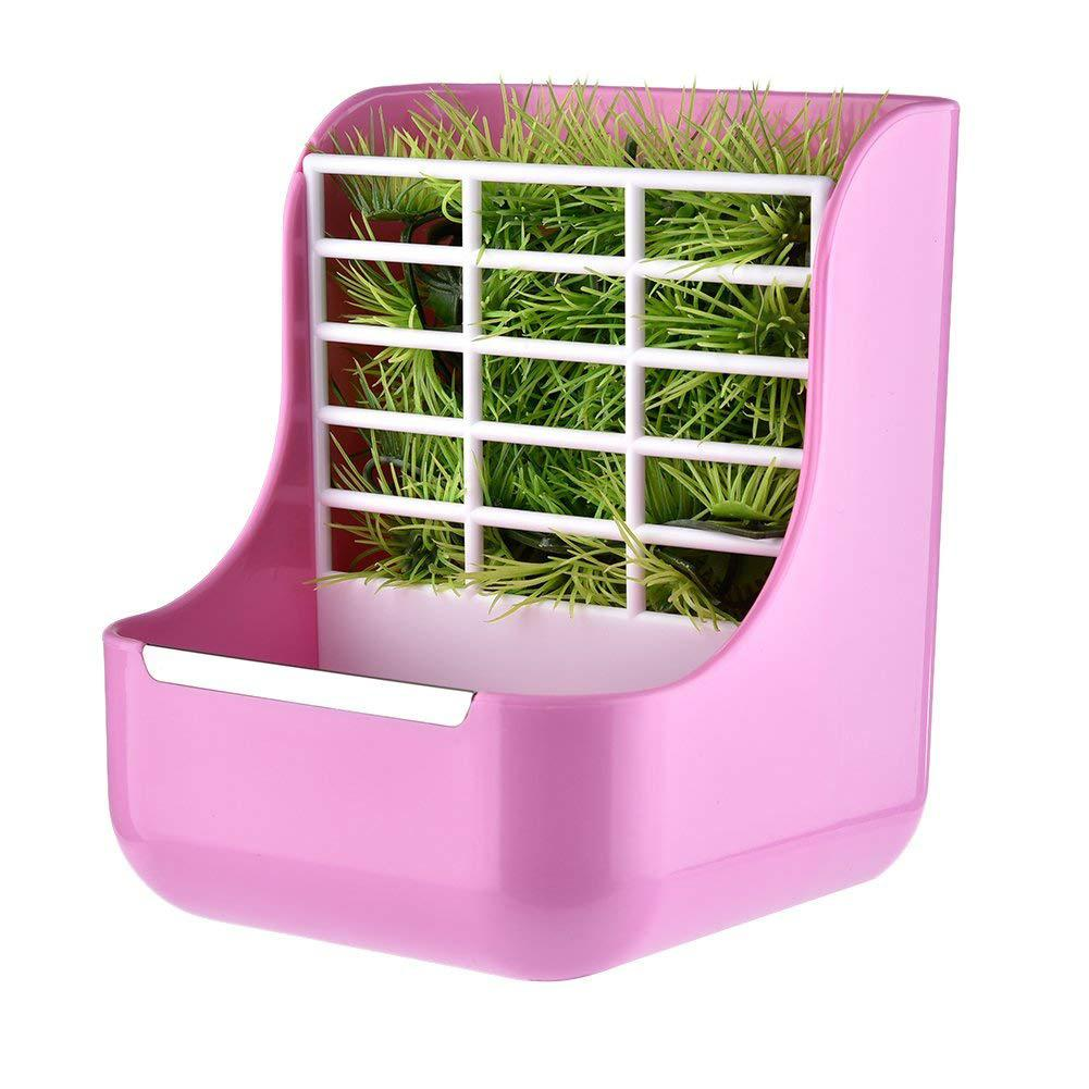 LanLan Two-in-one Pet Food Feeder/Grass Rack Fixed Feeding Bowl For Hamster Rabbit Small Animal Supplies-30