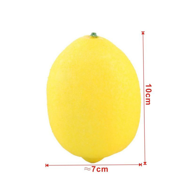 10 PCS Bubble simulation Fake Lemon fruits Artificial Vegetables fruit Model House Kitchen Party Home Decoration fruit 5