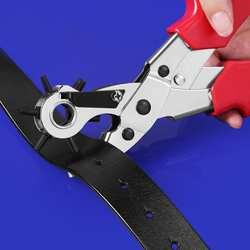 Кожаный ремень плоскогубцы Дырокол перфоратор вращаются Вышивание машины сумка сеттер Инструмент для ремешок