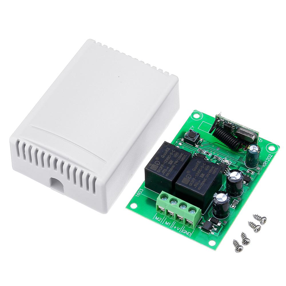 DC12V 2 Channel  Remote Control Switch Relay Module For DC Motor Reversing ControllerDC12V 2 Channel  Remote Control Switch Relay Module For DC Motor Reversing Controller