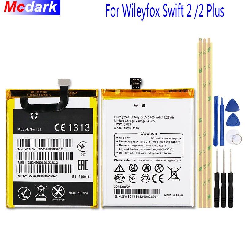 Mcdark 2700 mah Batterie Pour Wileyfox Swift 2 Batterie Accumulateur AKKU ACCU PIL Mobile Téléphone + outils Pour Wileyfox Swift 2 Plus