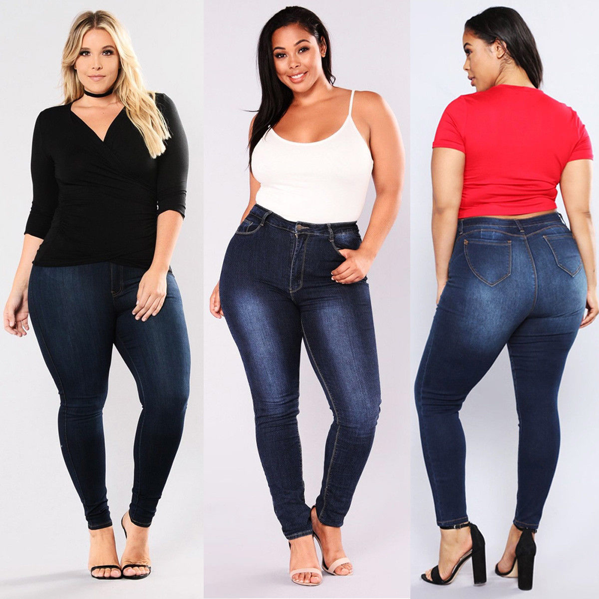 2018 Hot Jeans Woman Plus Size 5XL High Waist Jeans Gradient Denim Ladies Jeans Femme Push Up Mom Jeans Flower Pants Elastic