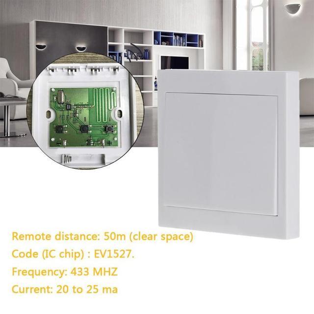 433 mhz 86 Draadloze Muur Panel Afstandsbediening Schakelaar Hal Slaapkamer Plafond Verlichting Smart Home Zender Sticky Schakelaar Controle
