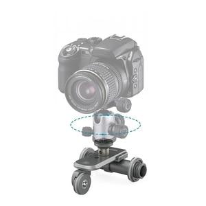 Image 3 - Kingjoy Ppl 06 Mini Motorized Electric Track Slider Dolly Car 3 Wheel Video Pulley Rolling Skater For Dslr Camera Camcorder